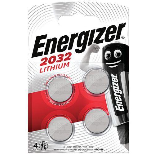 Pilha de botão de lítio CR 2032 – conjunto de 4 – Energizer