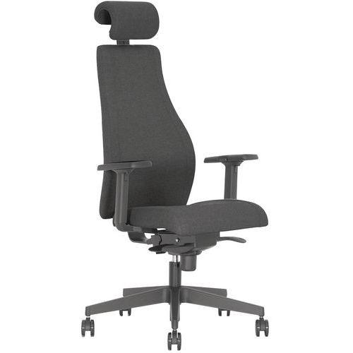 Cadeira de escritório Viden com apoios para braços – preto – Nowystyl