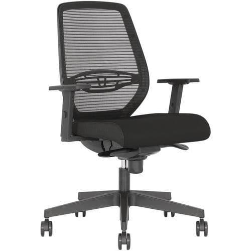 Cadeira de escritório Neos com apoios para braços 2D – preto – Nowystyl