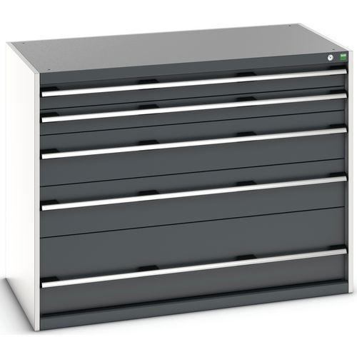 Armário de gaveta SL-13710-5.4 com 5 gavetas para carga pesada