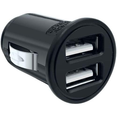 Minicarregador-isqueiro universal com 2 entradas USB – Moxie