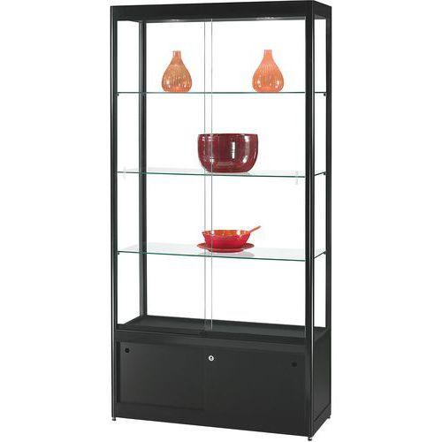 Vitrina de exposição com armário – 1000x400x2000mm – Manutan