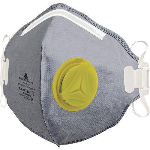 Caixa de 10 meias-máscaras descartáveis ffp2w com válvula - dobra vertical