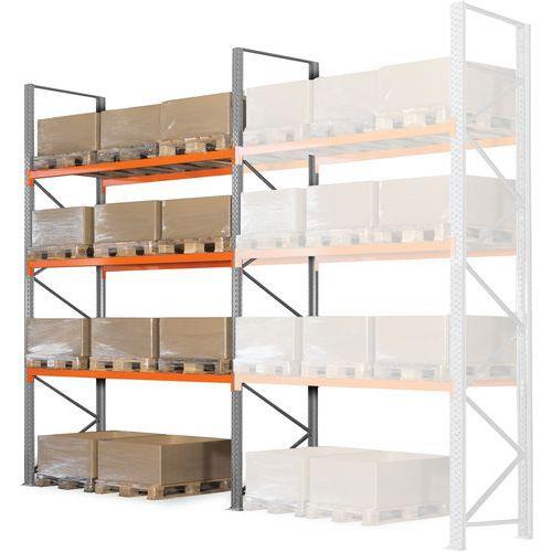 Estante para paletes Easy-Rack – acabamento galvanizado – P: 1100mm