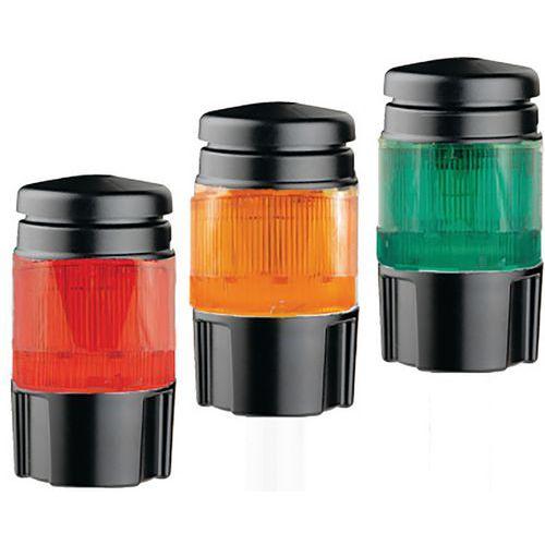 Coluna luminosa com LED multicolores – vermelho, laranja e verde