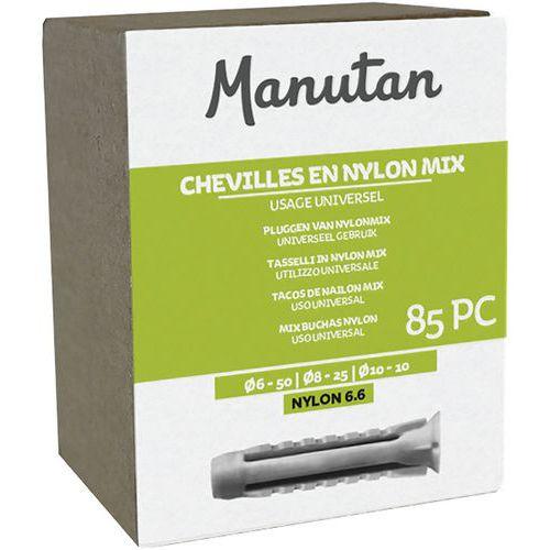 Cavilhas em nylon Mix de 85 peças – Manutan