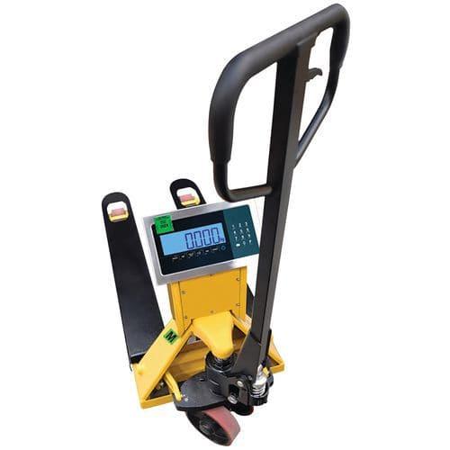 Porta-paletes com balança e certificação (metrologia legal) – capacidade de 2000kg – B3C