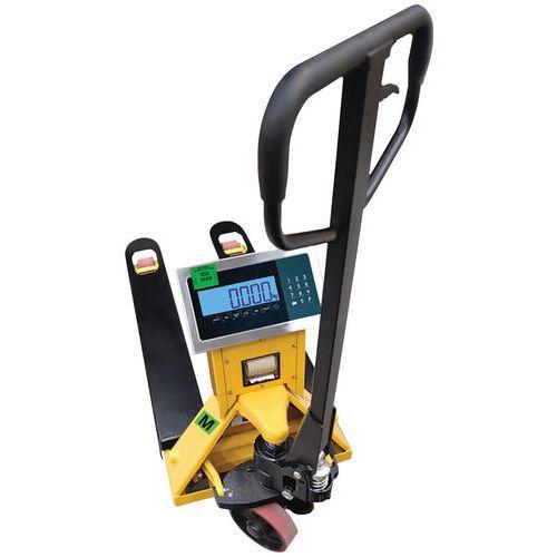 Porta-paletes com balança, impressora e certificação (metrologia legal) – capacidade de 2000kg – B3C