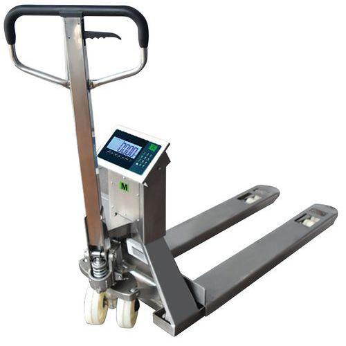 Porta-paletes manual com balança em inox – capacidade de 2000kg – B3C