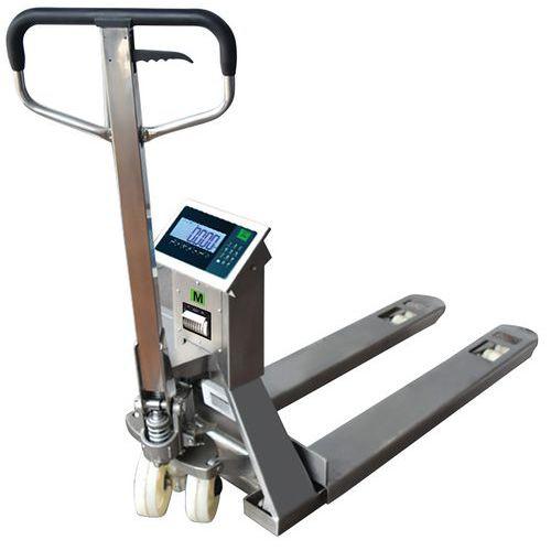 Porta-paletes com impressora e balança em inox – capacidade de 2000kg – B3C