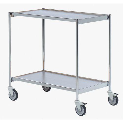 Mesa deslizante cromada – 2 plataformas – Capacidade: 150kg