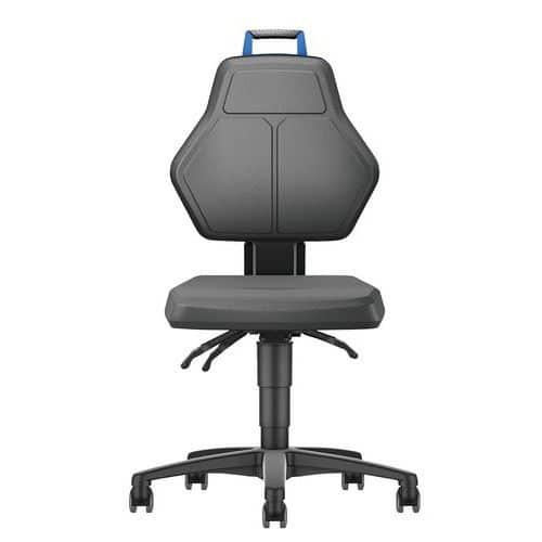 Cadeira de oficina baixa com rodízios – Manutan