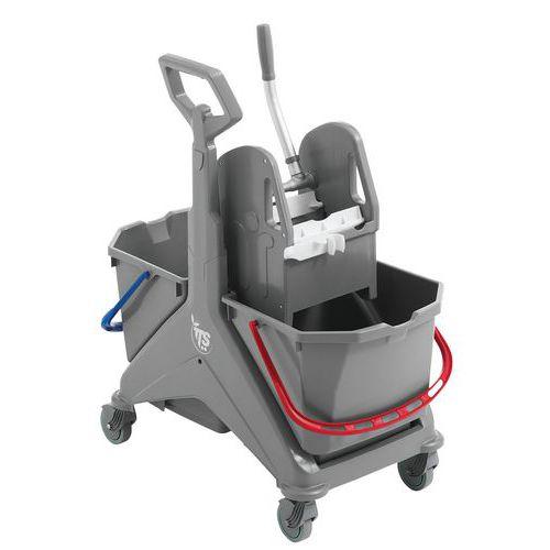 Carro de lavagem com pega Nickita – 2x25L – TTS