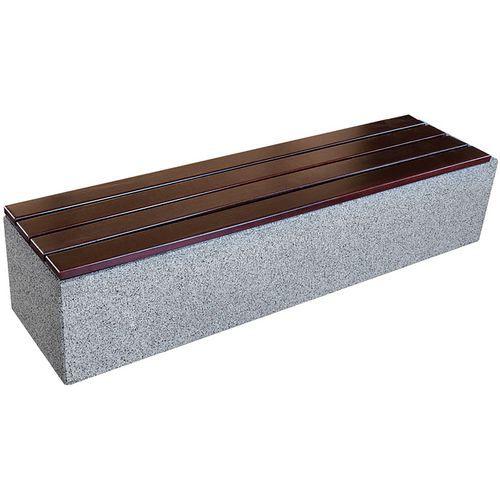 Banco Kube em betão e granito com assento em madeira – Benito