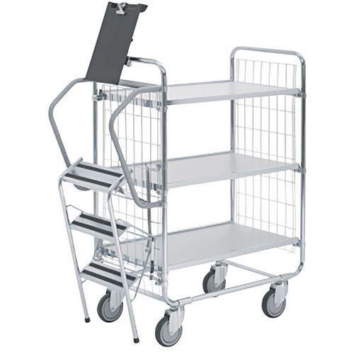 Carro com escada – 3 plataformas – capacidade de 200kg