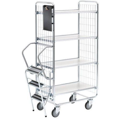 Carro com escada – 4 plataformas – capacidade de 200kg