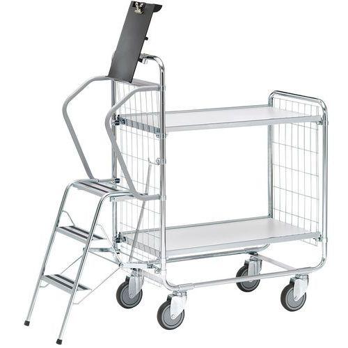 Carro com escada – 2 plataformas – capacidade de 200kg