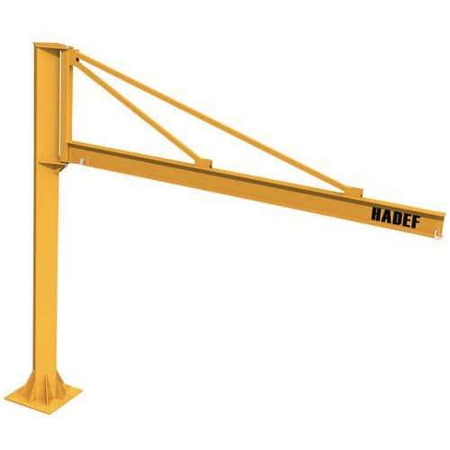 Conjunto de grua giratória triangular com diferencial elétrico – capacidade de 250 a 1000kg – HADEF