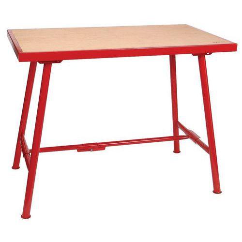 Mesa de oficina padrão – 640mm de largura – contraplacado de madeira – Virax