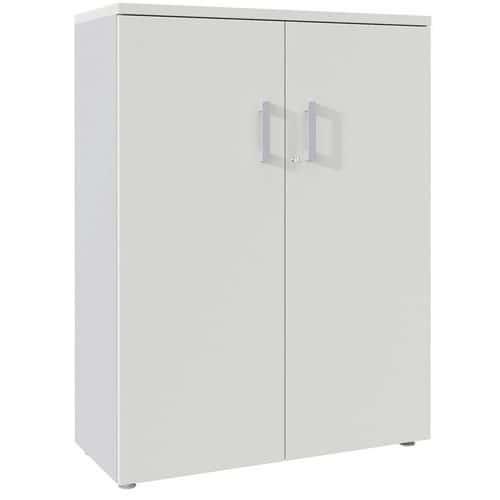 Armário de arquivo com portas rebatíveis de 133 cm de altura