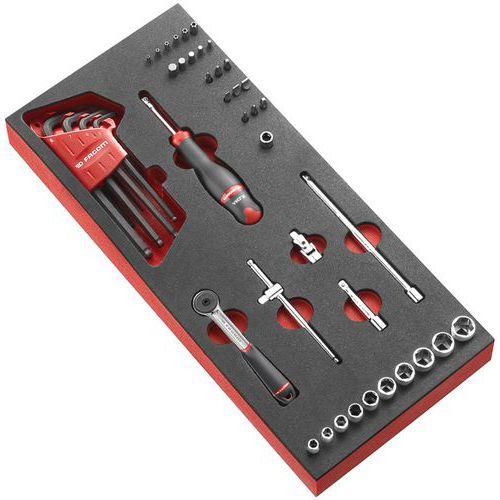Módulo de espuma de roquete e chaves de caixa de 1/4 – Facom