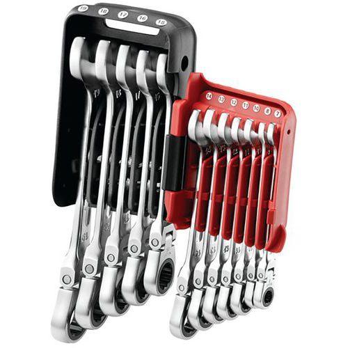 Conjunto de 12 chaves mistas de roquete articuladas em estojo de bolso – Facom