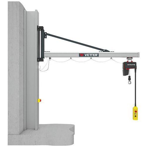 Grua mural para cargas leves – capacidade de 80 a 500kg – Vetter