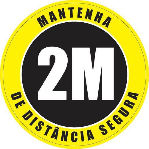 Autocolante para o pavimento de ''distância de segurança'' – utilização em espaços interiores – Ø 30cm
