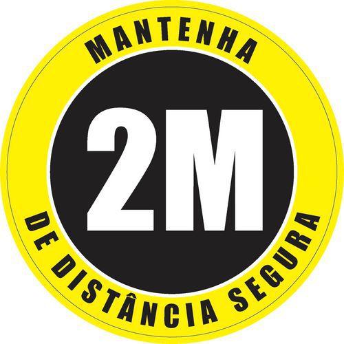 Autocolante para o pavimento de ''distância de segurança'' – utilização em espaços exteriores – Ø 30cm