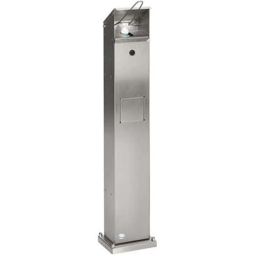 Distribuidor de gel acionado pelo pé e com caixote do lixo integrado – 1L – Var