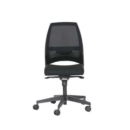 Cadeira de escritório Kenari com espaldar em rede sem apoios para os braços – preto – Nowystyl