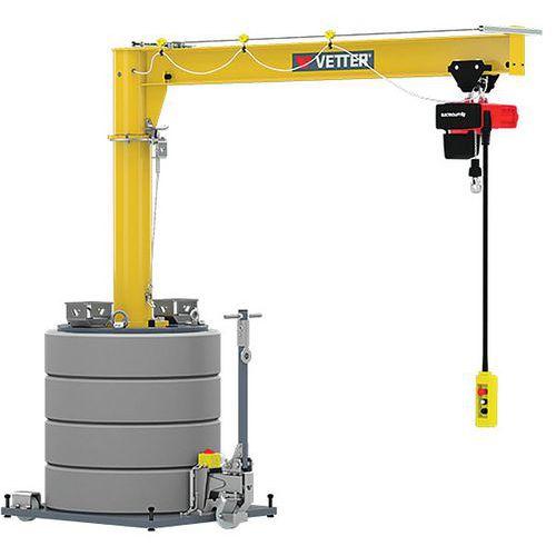 Grua móvel – capacidade de 125 a 500kg – Vetter