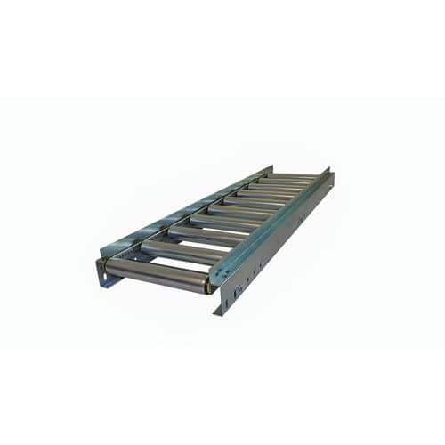 Transportador gravítico com rolos em aço e guias – Somefi