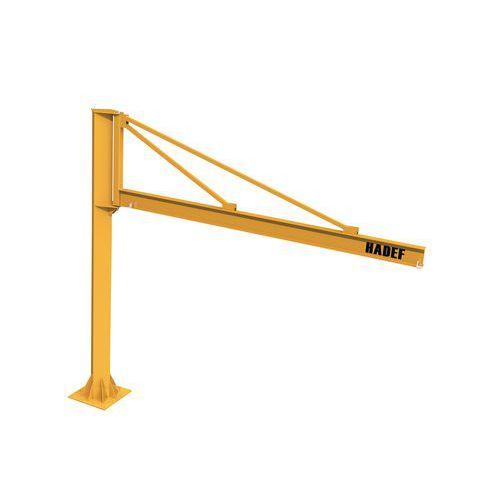 Grua triangular giratória – capacidade de 250 a 1000kg – HADEF
