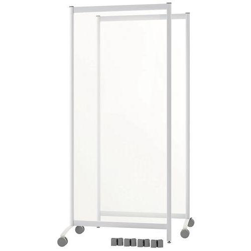 Conjunto de 2 divisórias de proteção móveis – 170cm de altura – Paperflow
