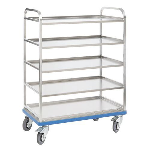 Carro em alumínio com prateleiras para caixas G ORG – Gmohling