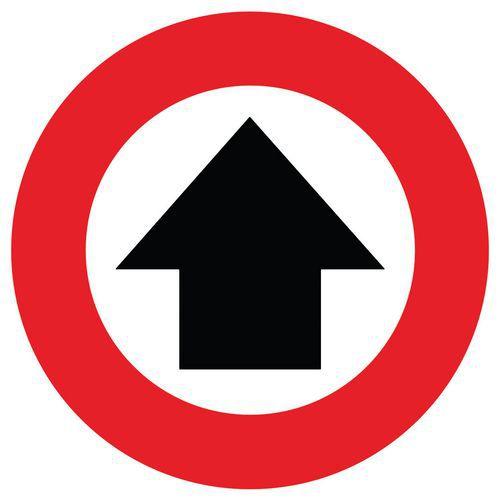 Marcação do pavimento para distanciamento social – flecha de direção