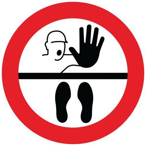 Marcação do pavimento para distanciamento social – Stop