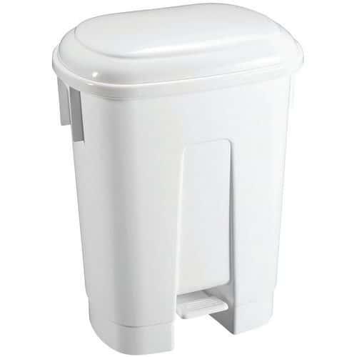 Caixote de lixo com pedal e divisória DERBY – 2x30L – TTS