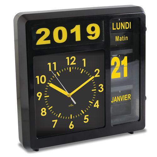 Relógio com data em indicadores rolantes Visual – Orium