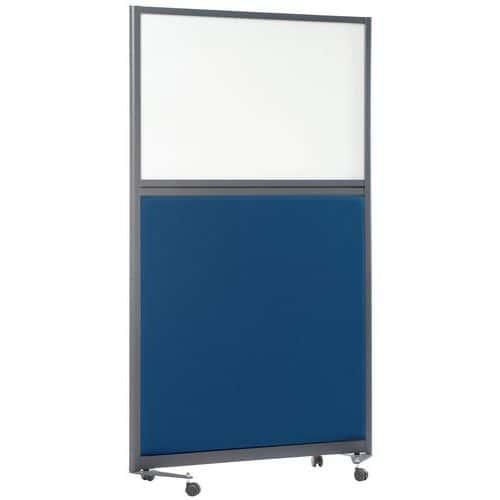 Divisória acústica com painel inferior LIGNE M – 2000x1000mm