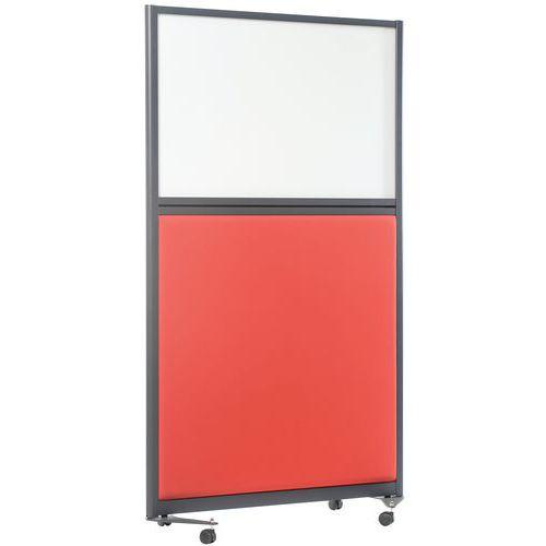 Divisória acústica com painel inferior e quadro branco LIGNE M – 2000x1000mm