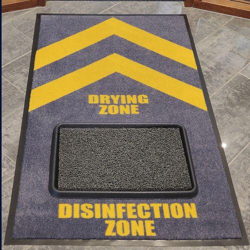 Tapete desinfetante com zona de secagem opcional – Notrax
