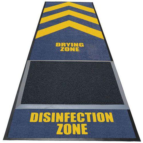 Tapete desinfetante com zona de secagem – Notrax
