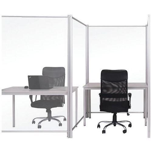 Divisória de proteção móvel – Bi-silque – transparente