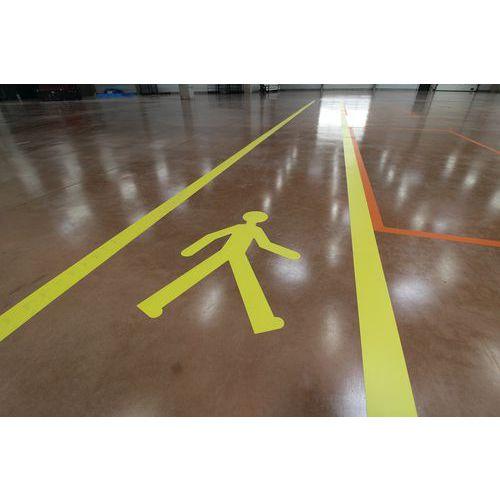 Adesivo em PVC para marcação do pavimento – 5 peões amarelos – Gergosign