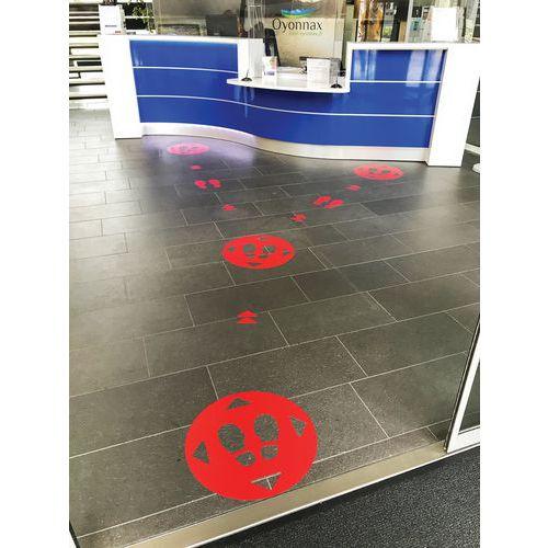 Adesivo de marcação do pavimento para distanciamento social – Pés – Gergosign