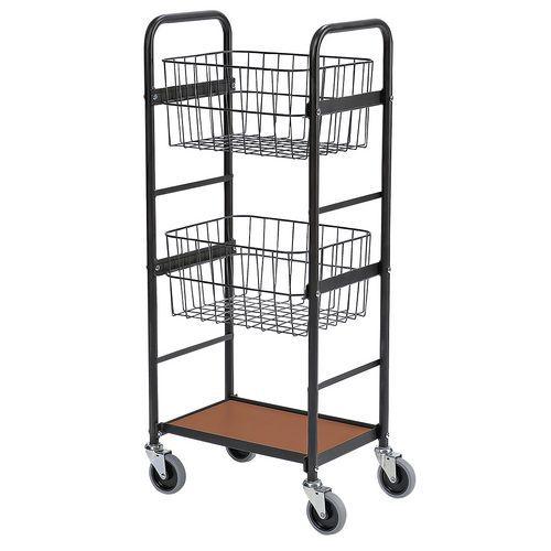 Carro com 2 cestos e 1 plataforma – capacidade de 100kg