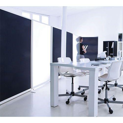 Divisória acústica com painel inferior e quadro branco magnético para escrever LIGNE M – 2000x1200mm