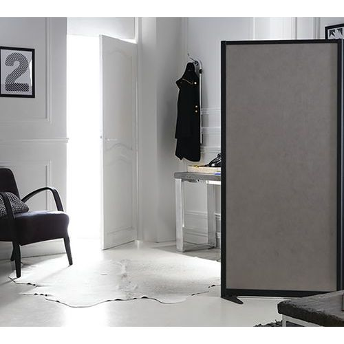 Divisória acústica com painel inferior e quadro branco magnético para escrever LIGNE M – 1700x1200mm